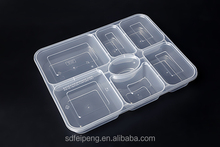 6 compartments Food Use Food Packaging box/Container /plate with clear lid