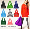Candy color folding shopping bag, gift bag portable large capacity of environmental protection shopping bag