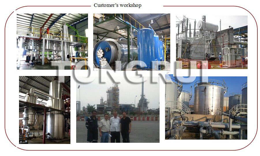 100% Environmental and best Quality Base Oil Distillation by adding catalyst