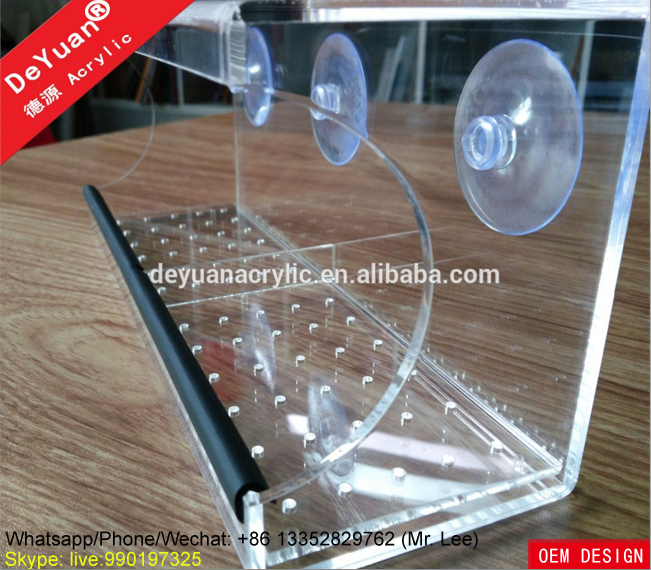 New design acrylic pet cage and pet feeder wholesale