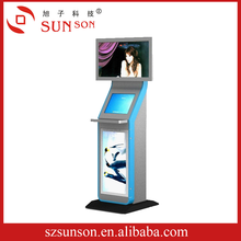 customized shopping mall guide kiosk with trackball metal keyboard