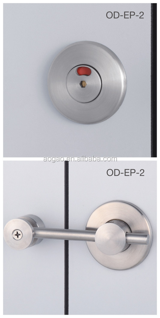 304 grade stainless steel toilet partition door lock