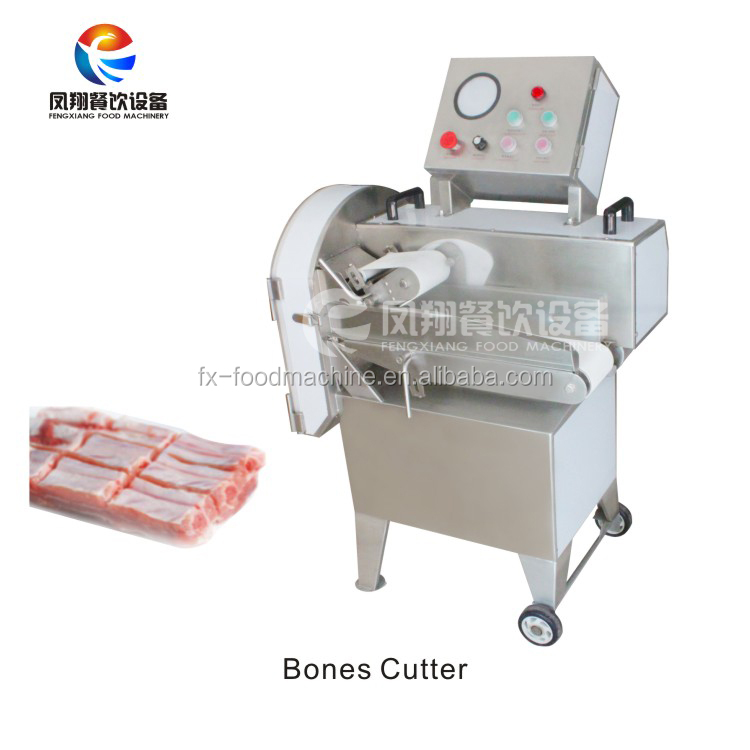 FC-304C Automatic stainless steel cooked meat cutting slicing machine with removable conveyor belt, frozen mea cutting machine