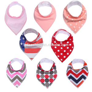 4-Pack Gift Set for Drooling and Teething Bib Cotton Soft and Absorbent Clearance Baby Bib Bulk , Baby Bibs Brands