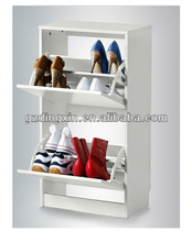 white modern shoe rack cabinet with 2 compartment (DX-8619)