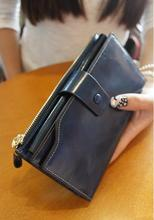 Wholesale leather ladies purse cheap wallet for girls