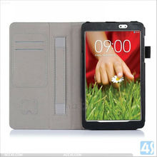 Top selling products in Alibaba Folio Stand Tablet Leather case for LG G Pad 8.3