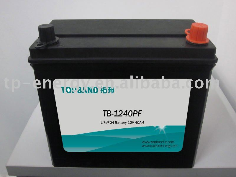 TB-2140PF 12V 40Ah LiFePO4 battery pack+BMS with SLA-case