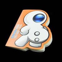 novelty memo pad sticky notes in different shapes