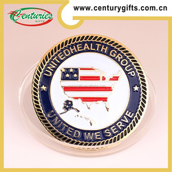 Custom metal challenge gold coin,soft enamel&silk screen printing, various designs are available