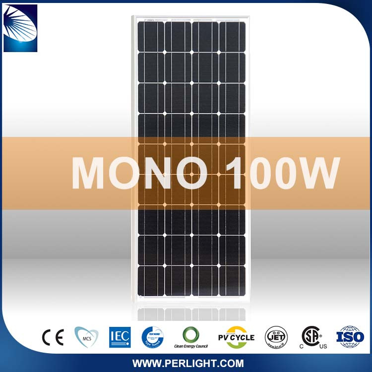 Photovoltaic Tilt 100W Monocrystalline Flexible Solar Panel