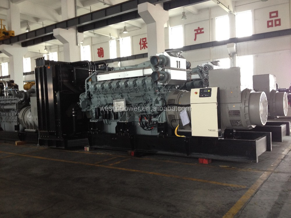 Industrial diesel 2500kva generator power by Mitsubishi Japan, 2 sets of synchronized, 5000 kva generator