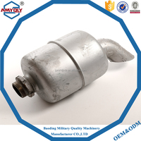 High Performance Auto Parts high flow catalytic converters muffler for exhaust