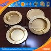 Factory directly supply aluminium commercial ashtray / sand blasting shining gold color aluminum ashtrays