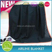 Qatar airline first class amenity kit high quality modacrylic polar blanket airline blanket
