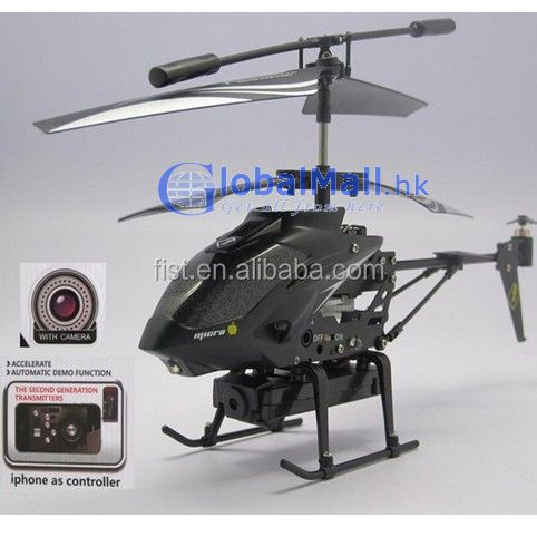 3.5CH iPhone/iPad/iPod/Andriod control Helicopter With Camera & SD Card RC MINI Helicopter