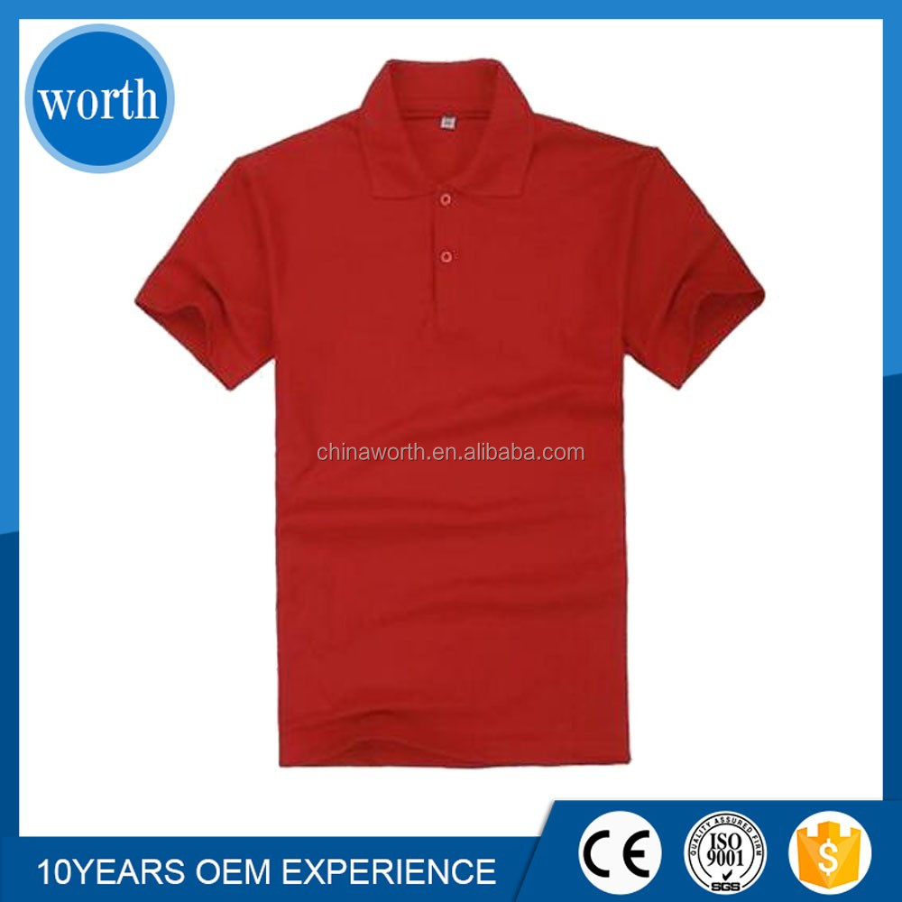 Design your own men blank polo shirt red collar buy for Design your own polo shirts