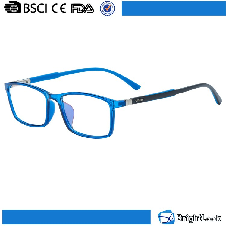 High grade transparent color frame TR90 optics glasses