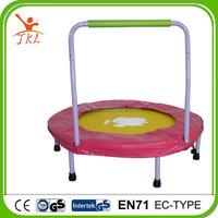 rent a 36inch indoor /outdoor cheap mini trampoline with handrail for sale
