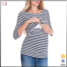 Wholesale maternity clothes nursing tops breastfeeding for trans-seasonal wear