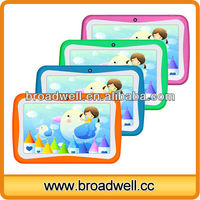 Different Color Fashion Design Allwinner A13 1.5GHz Dual Cameras 7 inch Children tablet mid