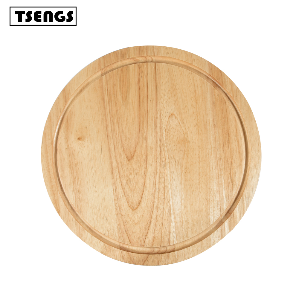 Hot sale round shape mini wood cutting boards wholesale chopping board