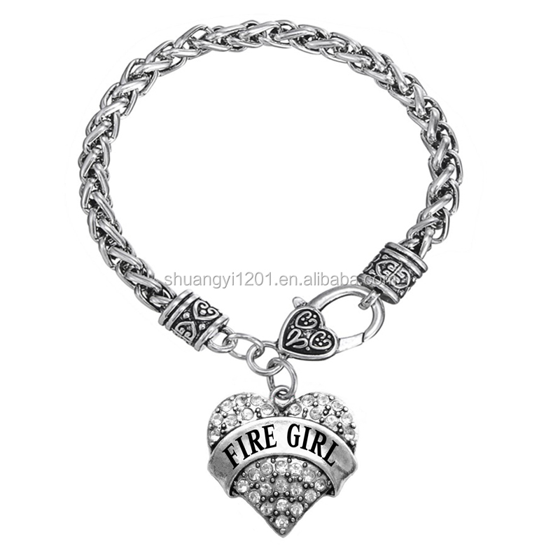 Fire Girl Bracelet Fashion Crystal Charm Bracelet For Women