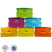 Two layers plastic lunch box hot sale latest product of china work home packing products gift item