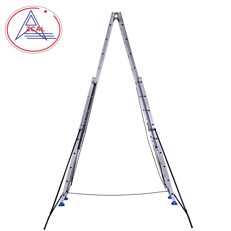 Double Telescoping Extension Combination Multifunction Multipurpose Ladder