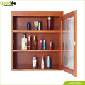 Solid wood cosmetic storage cabinet