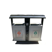 Public durable recycling stainless steel garbage trash bin