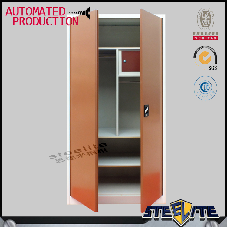 Hot sale bedroom godrej steel iron almirah cupboard designs with price in india