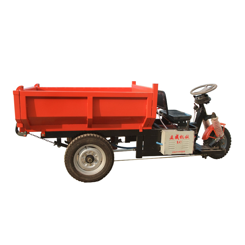 High quality 1.5tons mining used three wheels electric dumper, hydraulic lift cargo tricycle