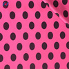 Custom design polka dot dress polyester spandex knitted brushed milk silk fabric