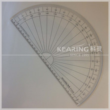 Kearing Clear Acrylic Plastic 30cm Diameter Half Moon Protractor for Fashion Design # P1030