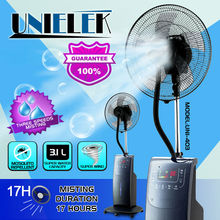 Aroma diffusion ice pack cooling 16 inch LED water spray fan with mist funtion