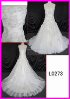 princess style A line with 3D lace flowers garments fashionable lady clothing 2015 hot sell wedding dresses