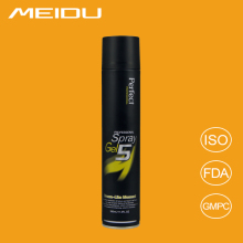 Private lable OEM available long lasting permanent hair spray, natural strong hold hairspray