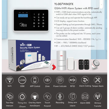 Wolf Guard GSM+ Wifi wireless home Intruder security alarm system with app control