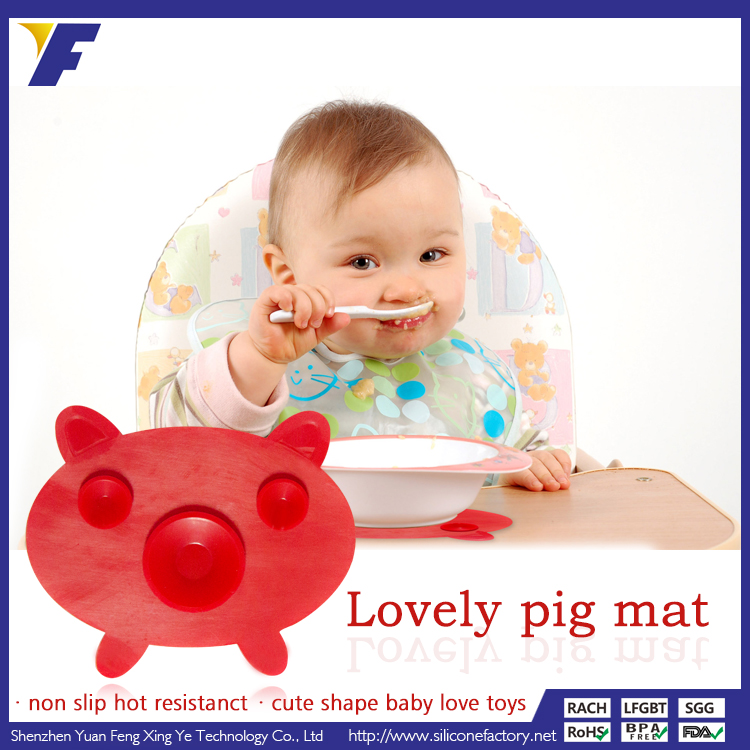 2015 hot new products cheap wholesale heat protection silicone kids placemats