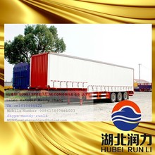3 Axle Bulk Cargo Box Semi Trailer With Strong Structure