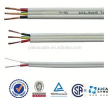 PVC Insulated and Sheath 3 Core Flat Cable TPS Cable BVVB 3x1 mm2