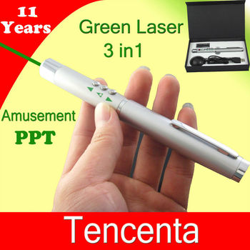532nm 5mw Powerpointer Infrared Radio green laser pointer presenter
