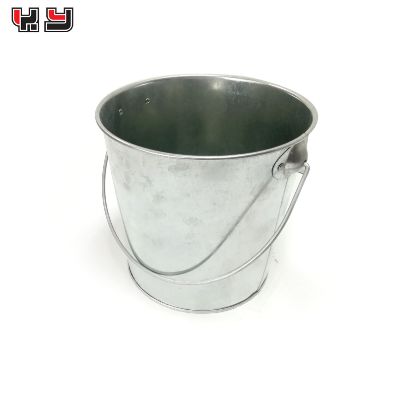 Mini Snack Metal Bucket / Tin Pail with wire Handle