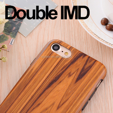 TPU IMD Wood Grain Phone cover case for iphone 7 for iphone 7 plus