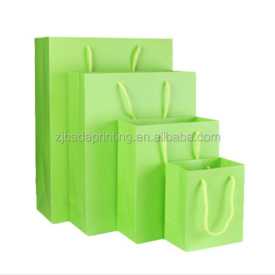 Recyclable Candy Color Paper Bag Promotion Gift Package Bag