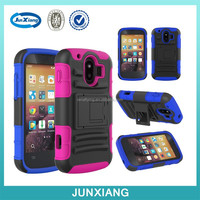 Hot rugged case Robot Hybrid Plastic & Silicon Box Hard Case Cover with Stand For ZTE V830