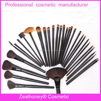 Hot ! 31 pcs black handle black ferrule best makeup brushes for porm makeup