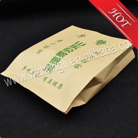 Hot sale fast food brown kraft paper bag