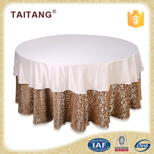 2018 new series polyester luxury jacquard table cover shiny table cloth
